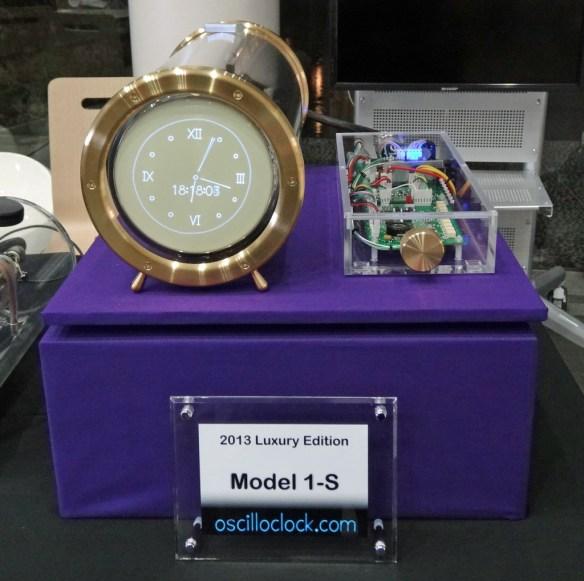 Oscilloclock Model 1-S at Tokyo Maker Faire 2013