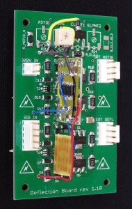 Oscilloclock Deflection Board - modified for ultra-linear HV output