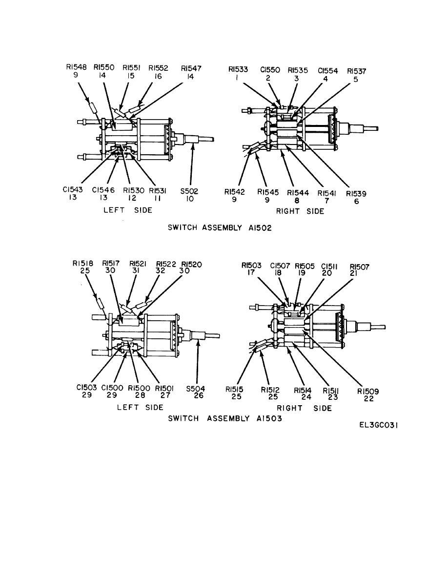 Figure 26. Preamplifier, Dual Trace MX-2930A/USM, Switch