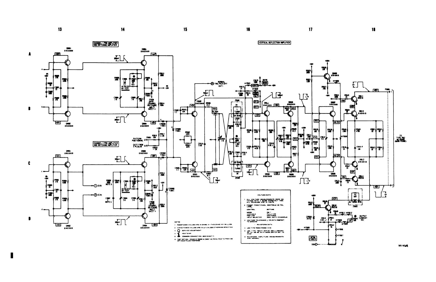 Figure 6-2.1. Dual trace plug-in (type 79-02A with mod 103