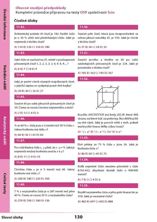 úlohy z analytického oddílu učebnice OSP Scio