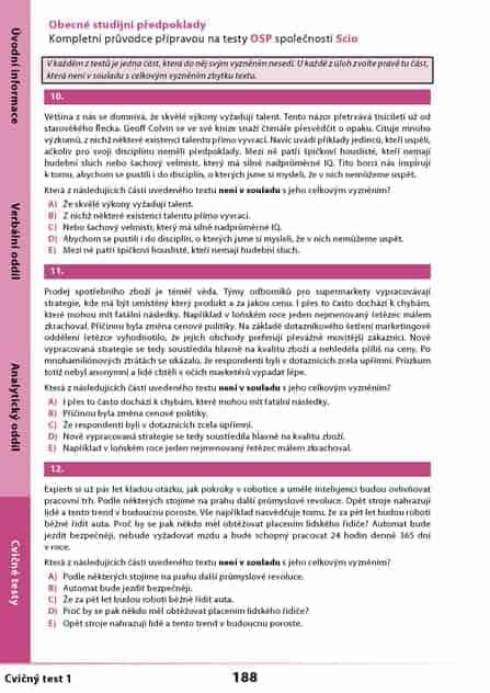Scio testy OSP: Krátké testy z učebnice