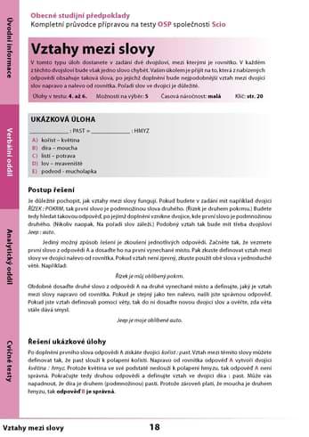 Ukázka učebnice OSP na Scio testy