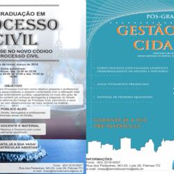 Fasec lança pós-graduação de Gestão das Cidades e Processo Civil