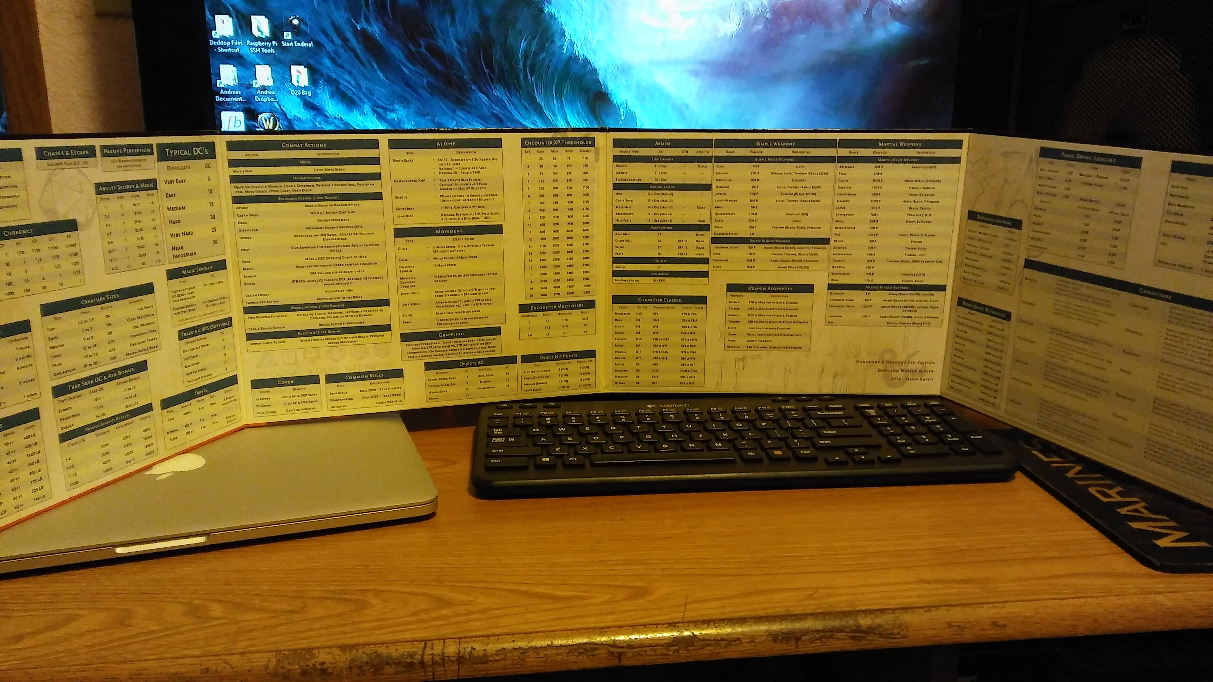 image about Printable Dm Screen 5e Pdf named 4th Variation Dm Display screen - 12 months of Contemporary H2o