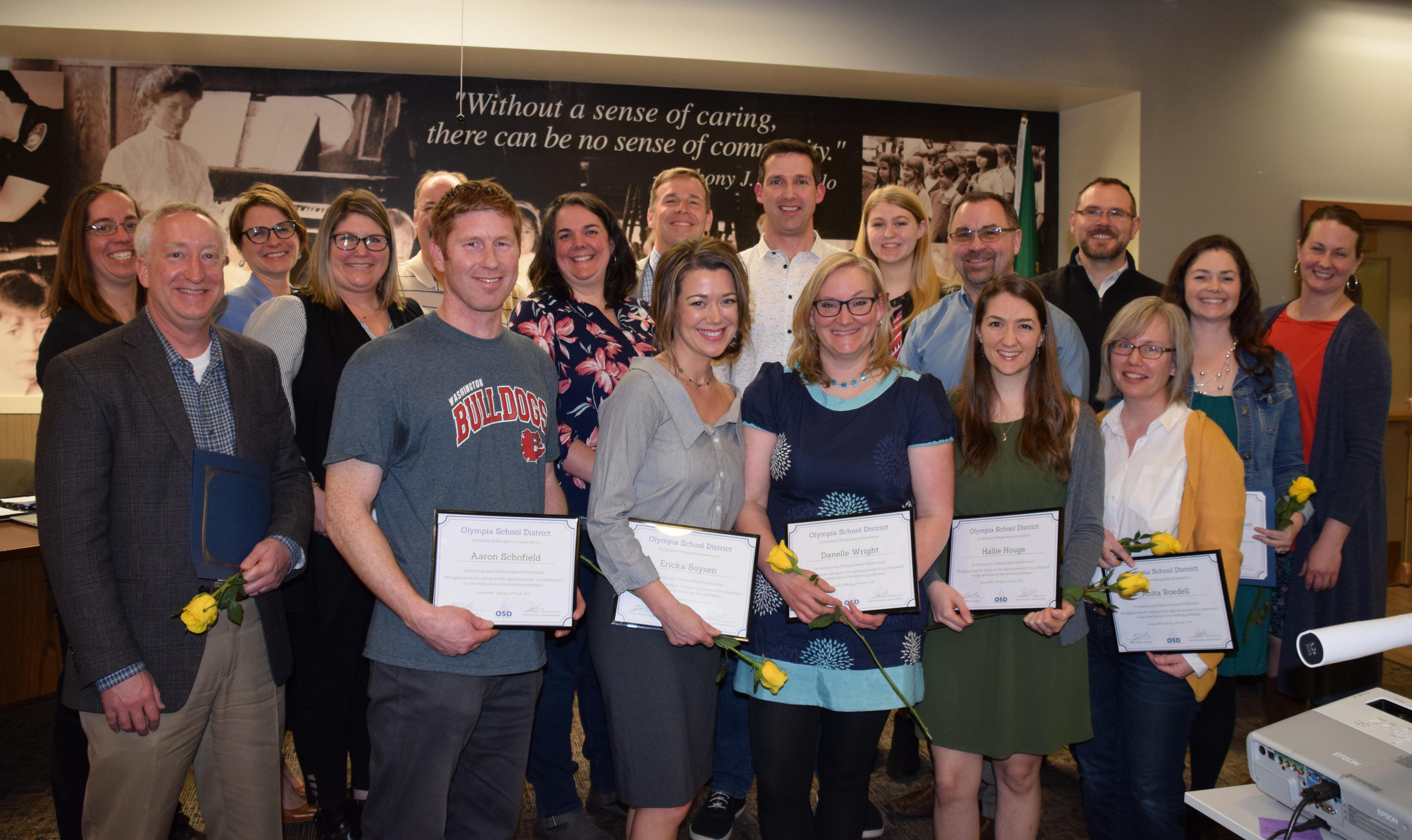 School Board Honors National Board Certified Teachers Here39s The Scoop