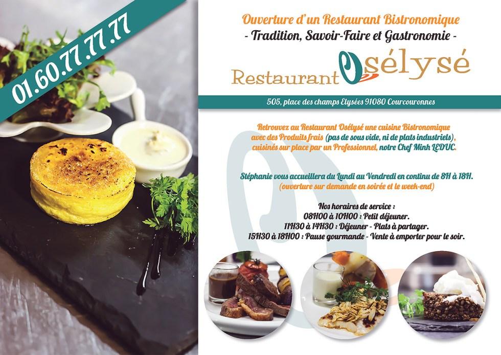 Flyers de lancement du Restaurant Osélysé