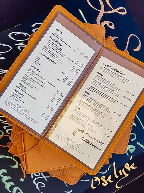 Protèges menu et carte des vins en cuir véritable