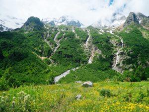 Куртатинское ущелье - долина водопадов
