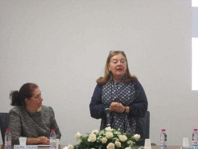 Natividade Coelho, presidente da distrital da Segurança Social foi uma das oradoras