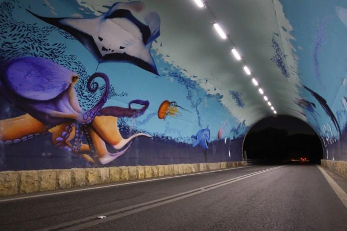Túnel da Figueirinha com nova iluminação
