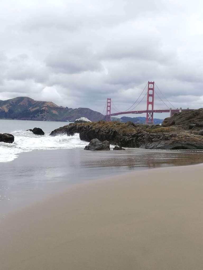 golden gate vue depuis baker beach