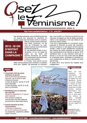 Journal 15 d'Osez le féminisme !