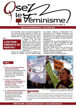Journal 29 d'Osez le féminisme !