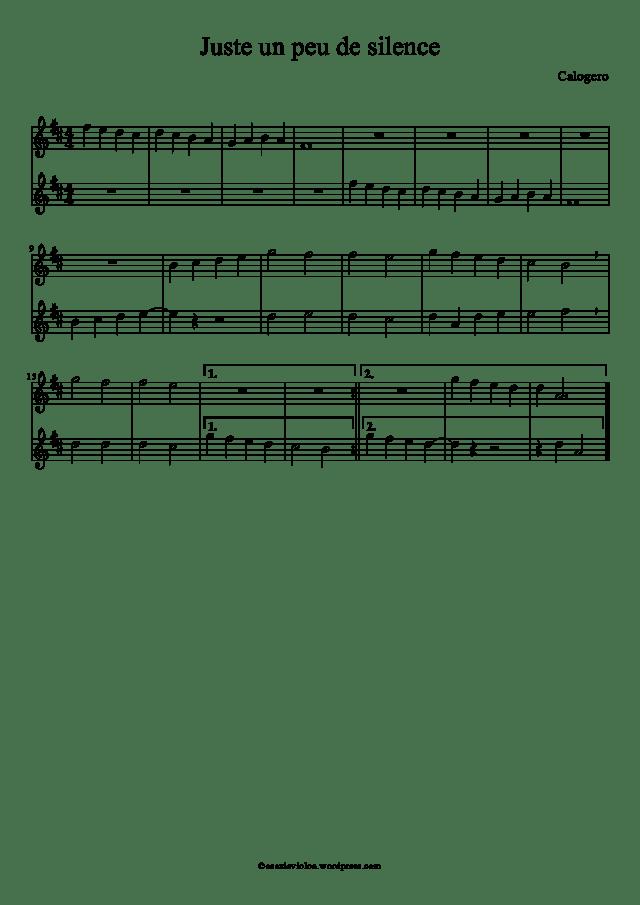 Calogero - Juste un peu de silence - À écouter sur Deezer