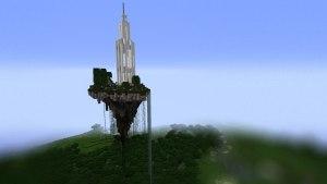 Minecraft sky castle