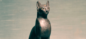 """Egyptian - Statue of a Seated Cat - Walters 54403 - Three Quarter"" by Anonymous (Egypt)"
