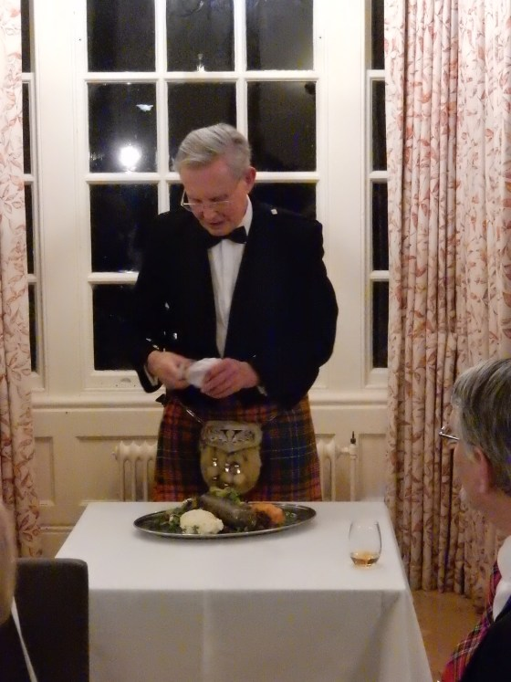 Dixon addresses the haggis