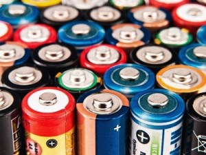Battery colorful background