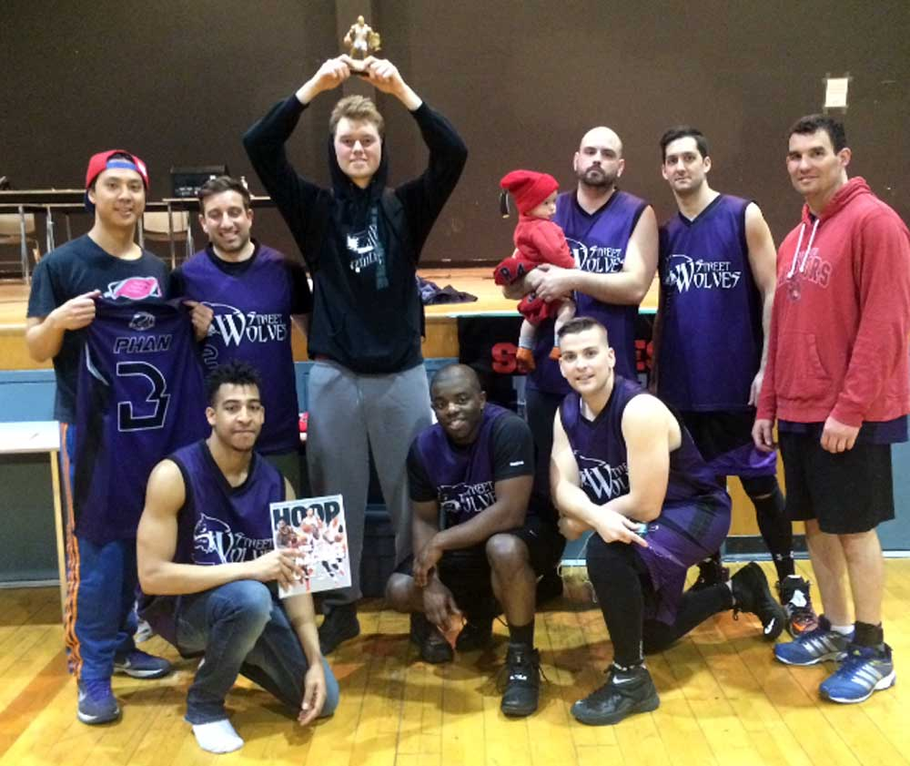 The DMBA recently hosted a charity tournament in support of The Eating Well food bank. Tournament winners, the Street Wolves, pose after the big win.
