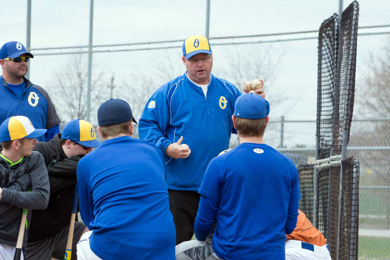 U18 head coach and manager Daryl Macklem gives some pointers to his team during a recent practice at Ritson Field. The elite club opens their season on May 3 against Mississauga.