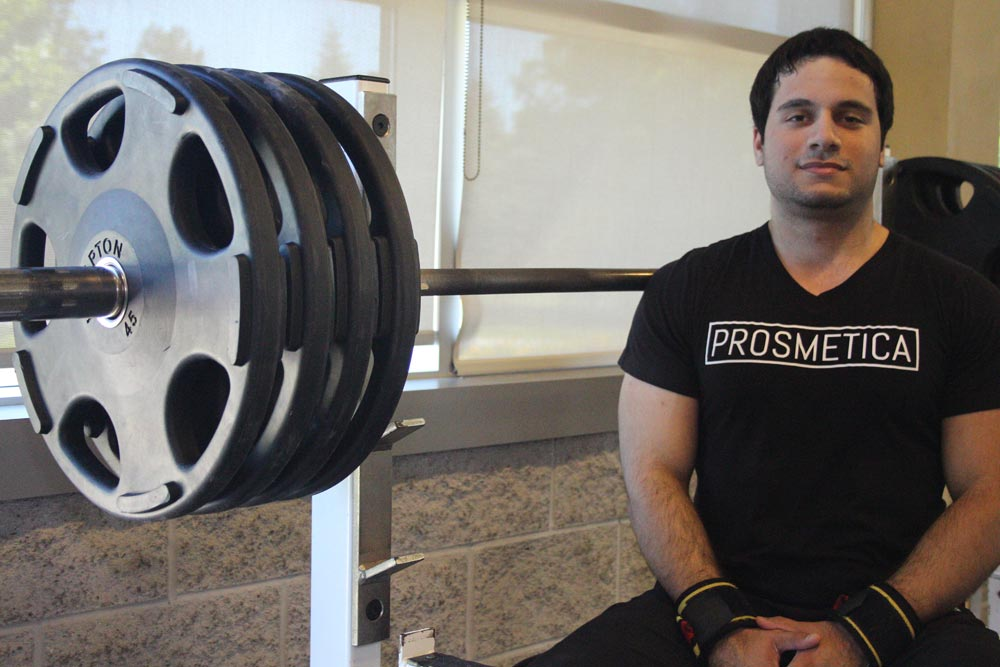 Getting into the sport following a lower back injury, Khashayer Farzam has taken to powerlifting with force, taking part in competitions around the world. While the recent UOIT grad is not taking part in as many competitions these days, Farzam is no slough, still heading to the gym to lift weights three times a week.