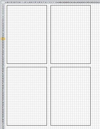 1枚のシートをa4用紙に4枚印刷したい -一つのシートに4つの四角 ...