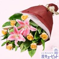 ユリとバラの花束【5,000円+税】511382
