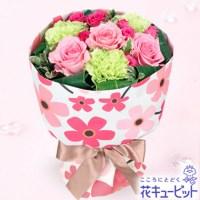 ピンクバラの花キューピットブーケ(フラワー)【3,000円+税】511770