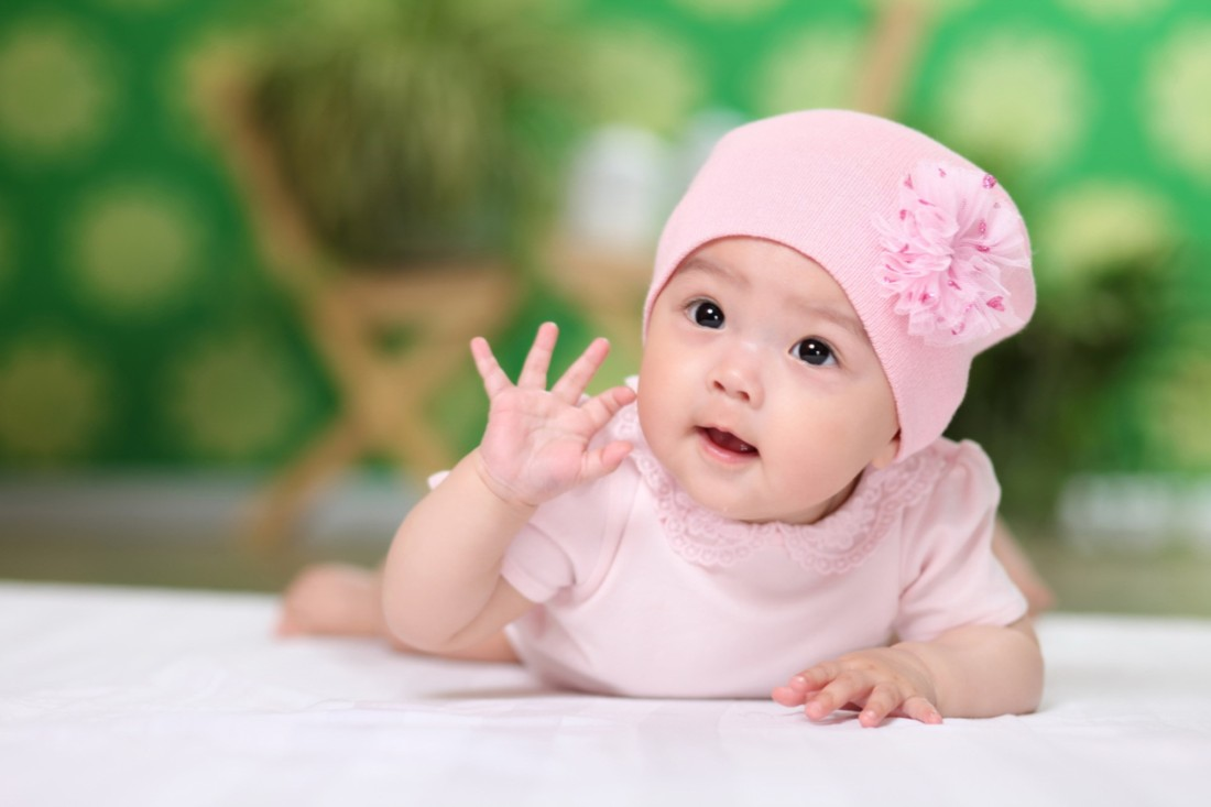 Cute Babies Good Morning Wallpapers Child S Love Cute Baby In A Pink Dress 3 Baby Posters
