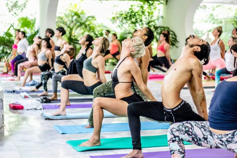 yoga class at ozen resort