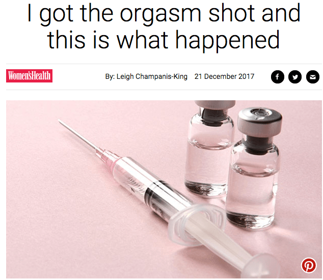Medical need for orgasm