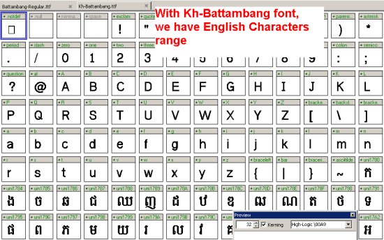 View Kh-Battambang.tff on fontcreator