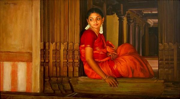 Rhythmofart .elayaraja' - Oil Painting Knife
