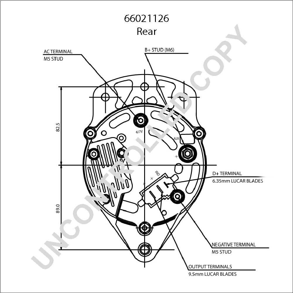 Alternator pl oe prestolite 66021126 12v 70a ca1457