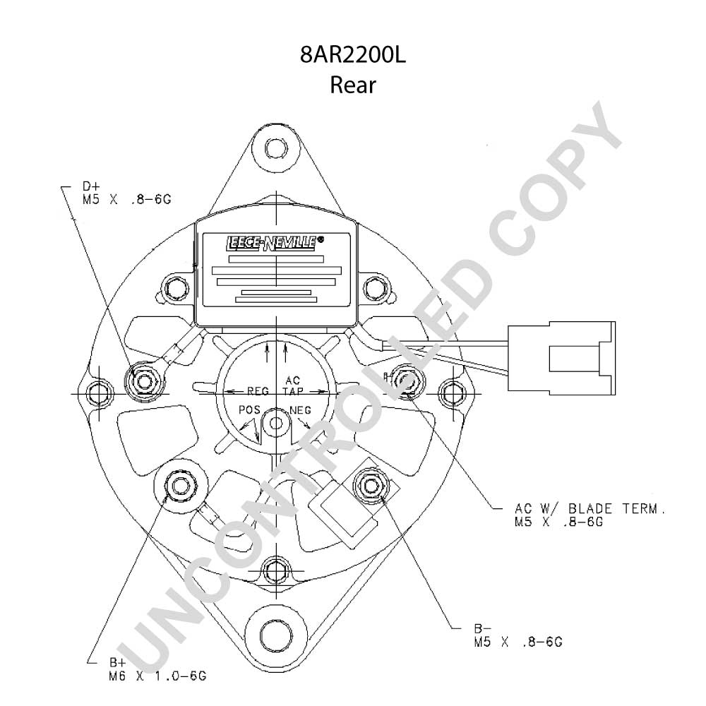 Alternator pl ln oe prestolite 8ar2200l 12v 65a alt32030 lucas alternator wiring diagram wiring motorola diagram alternator 9db2lj2b58