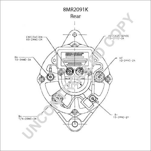 small resolution of  8mr2091k prestolite leece neville alternator on refrigerator wiring diagram fisher minute mount wiring