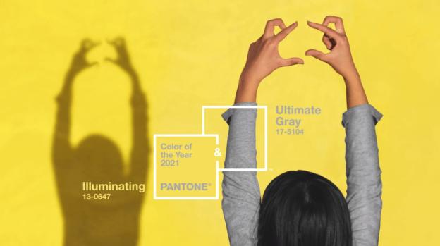 2021 올해의 컬러 얼티밋 그레이와 일루미네이팅.