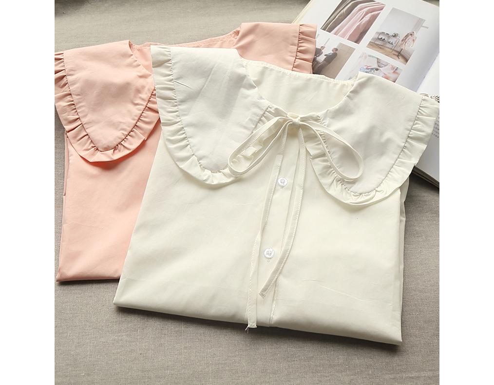 옷이날개 셔츠 베이직 셔츠코디 프릴 와이드카라 셔츠의 계절
