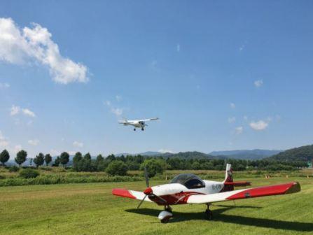 공주 비행마을 경비행기 체험.