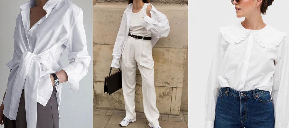 화이트 패션 아이템 기본 적으로 소장하고 있는 화이트 셔츠는 어디에나 코디하기 쉽다