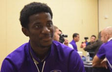 Hadji Barry speaks with the Orlando Soccer Journal during Orlando City SC's media day on Friday, February 26, 2016. (Victor Ng / Orlando Soccer Journal)