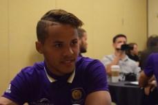 Tyler Turner speaks with the Orlando Soccer Journal during Orlando City SC's media day on Friday, February 26, 2016. (Victor Ng / Orlando Soccer Journal)