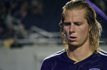 Brek Shea walks off the pitch disappointed after a 1-1 draw between Orlando City and the Chicago Fire in the Orlando Citrus Bowl on Friday, March 11, 2016. (Victor Ng / Orlando Soccer Journal)