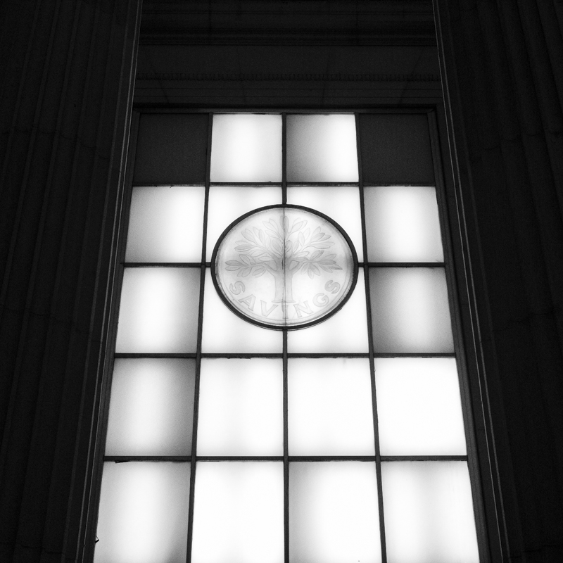 Windows from the Old Union Square Savings Bank.