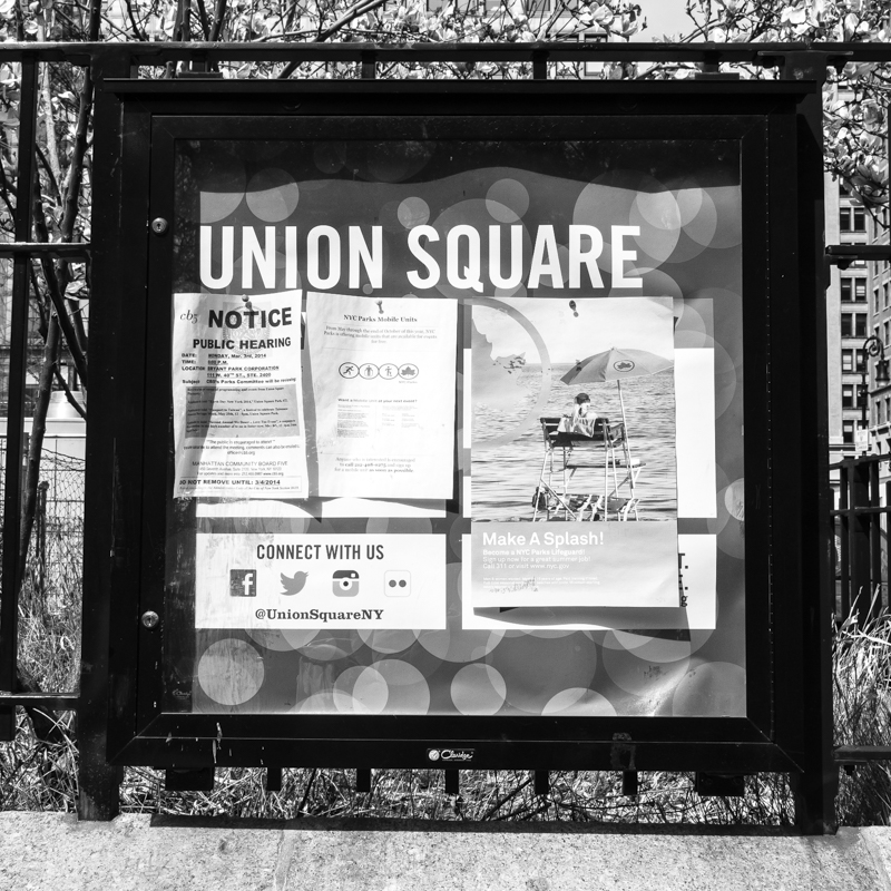 Welcome to Union Square Park