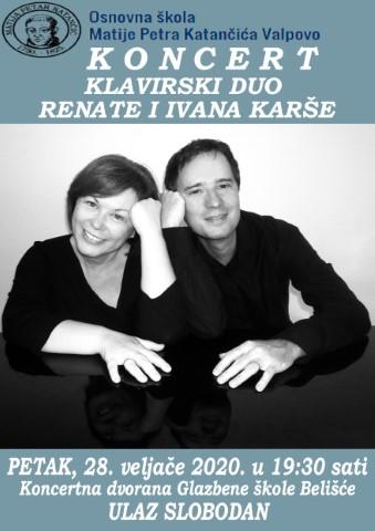 Klavirski duo Renate i Ivana Karše