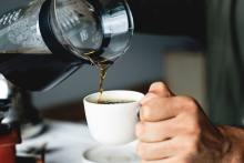 Photo of coffee being served