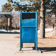 Photo of Blue Mailbox