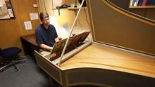 Matthew Tylutki plays the harpsichord